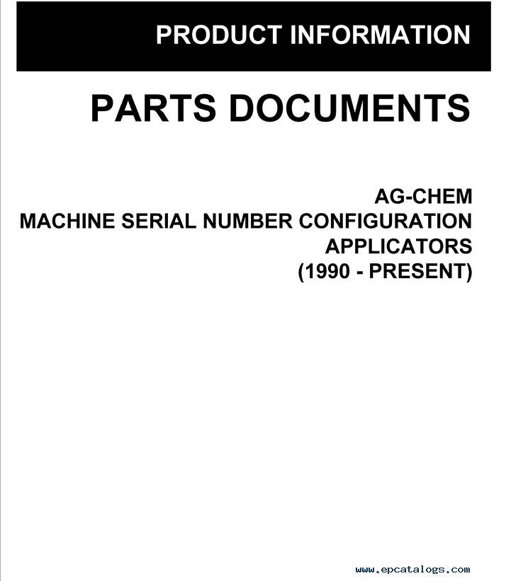 Ag Chem Epsilon North America Parts Manuals 2015 Download
