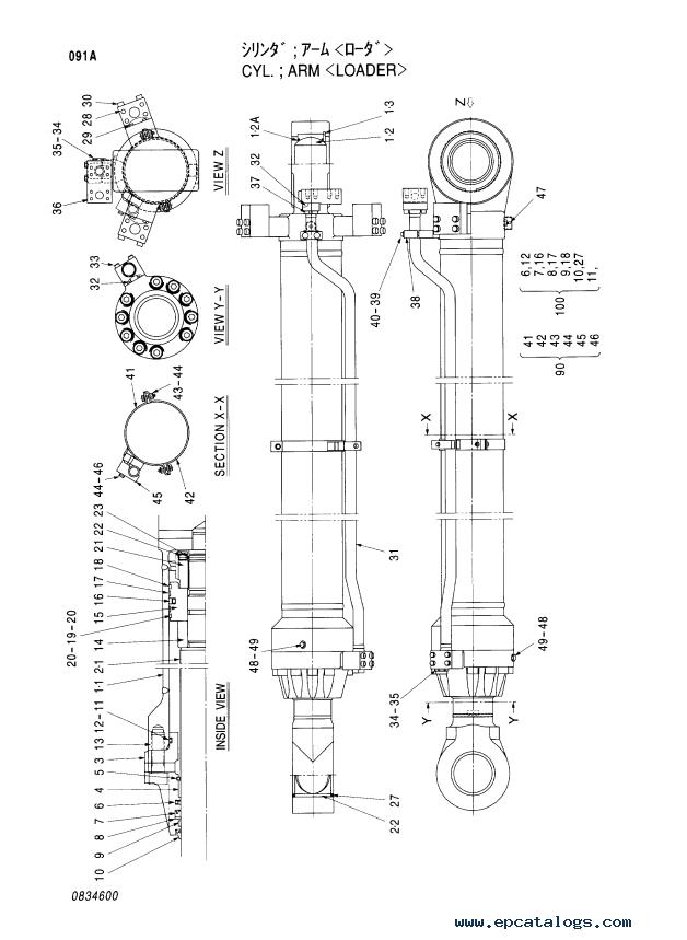 Hitachi EX1900-5 Equipment Components Part P18C-E1-1 PDF
