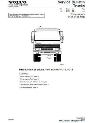 Volvo Trucks FL7, FL10, FL12 Wiring Diagram Manual PDF