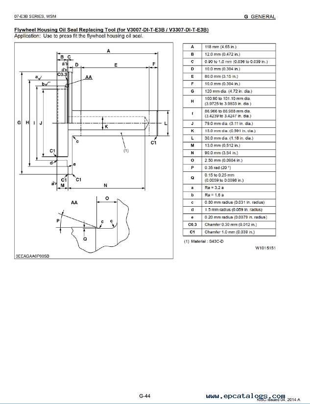 Kubota 07-E3B Series Diesel Engine Workshop Manual PDF