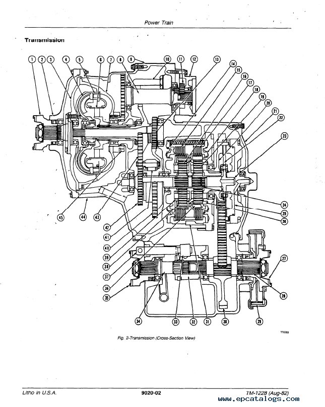 John Deere 544C Loader TM1228 Technical Manual PDF