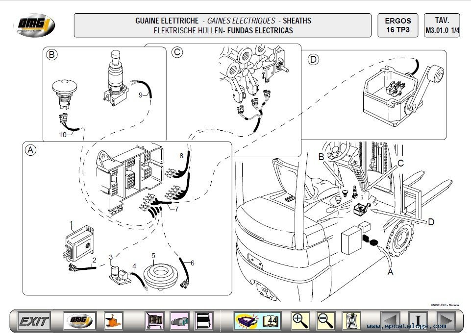 OMG Forklift EPC Electronic Spare Parts Catalog Download