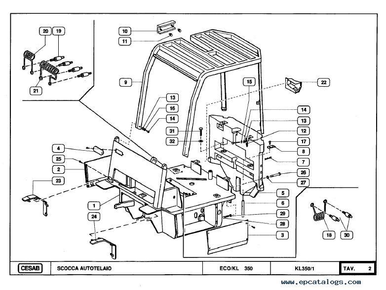 Download Cesab Forklifts ECO/KL 350 Spare Parts Catalog PDF
