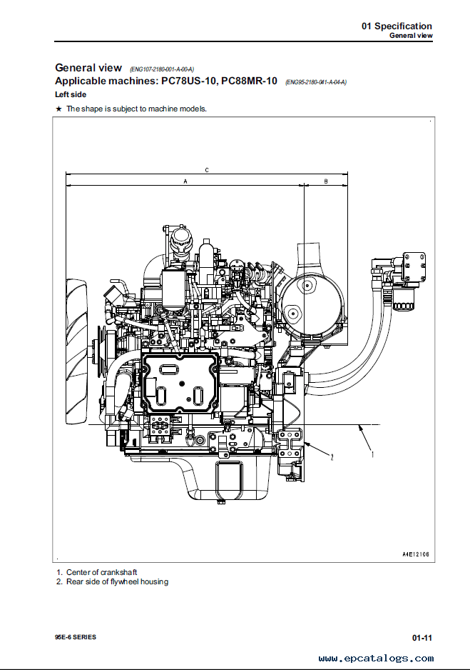 Komatsu Engine 95E-6 Series Shop Manual PDF Download