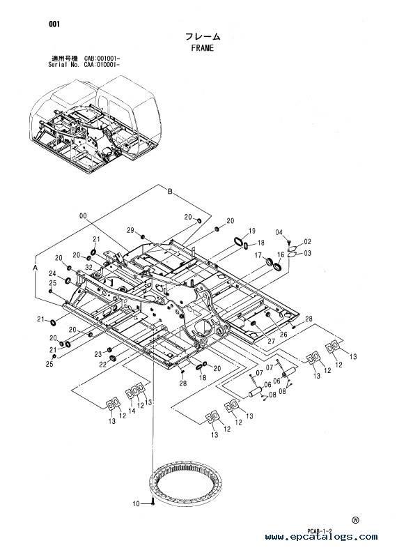 Download Hitachi Excavator Zaxis 130W Parts Catalog PDF