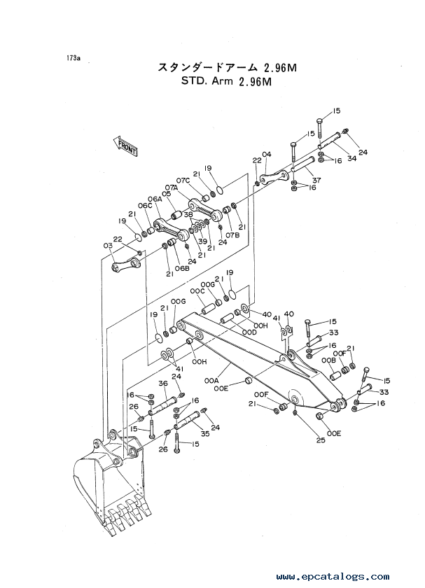 Hitachi Excavators EX Series 1, 2, 3, 5 Parts Catalogs PDF