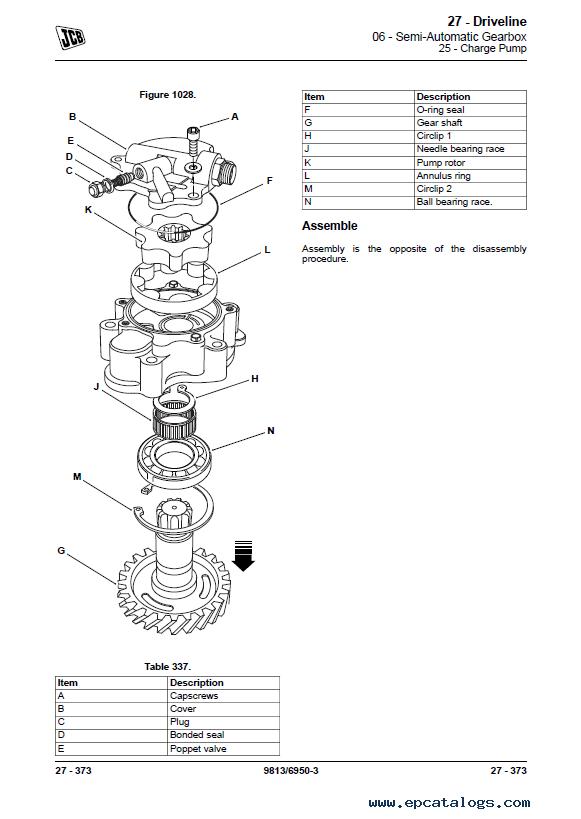 JCB Backhoe Loader 3CX, 4CX, 5CX Service Manual
