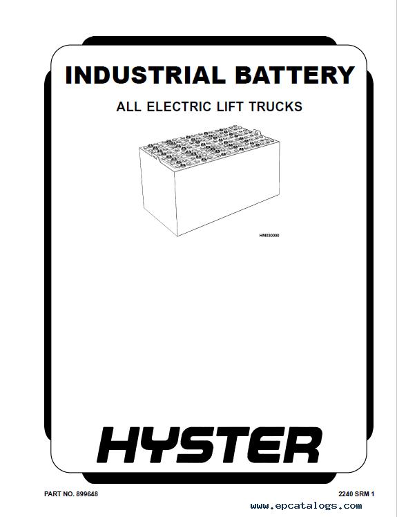 Hyster Class 1 E114 E25-40Z Electric Motor Rider Trucks PDF