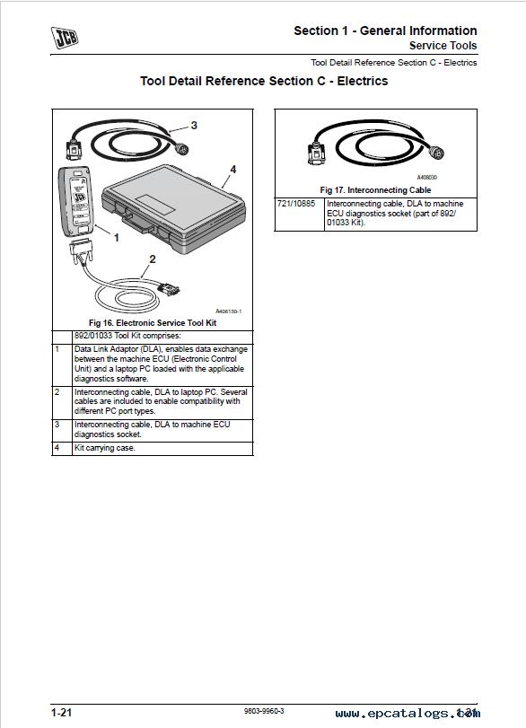 JCB Backhoe Loader 1CX Service Manual PDF