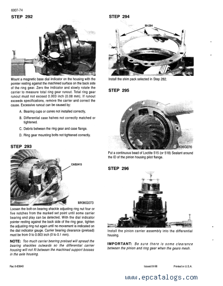 Case 9350 Tractor Download Service Manual PDF