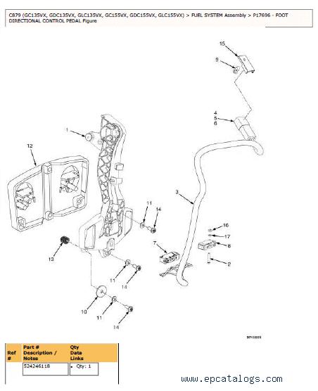 YALE C879 (GC/GDC/GLC135/155VX) Parts Information PDF