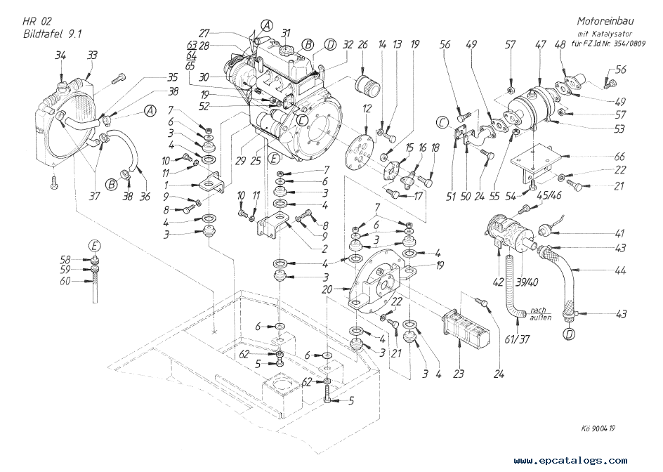 Terex HR 02 Crawler Excavator Download PDF Parts Catalog