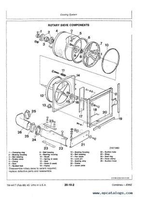 John Deere 4425 Combine TM4417 Technical Manual PDF