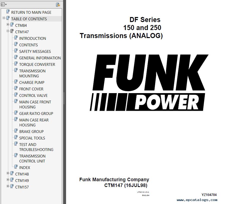 Funk Power DF Series 150 & 250 Transmission PDF Manuals