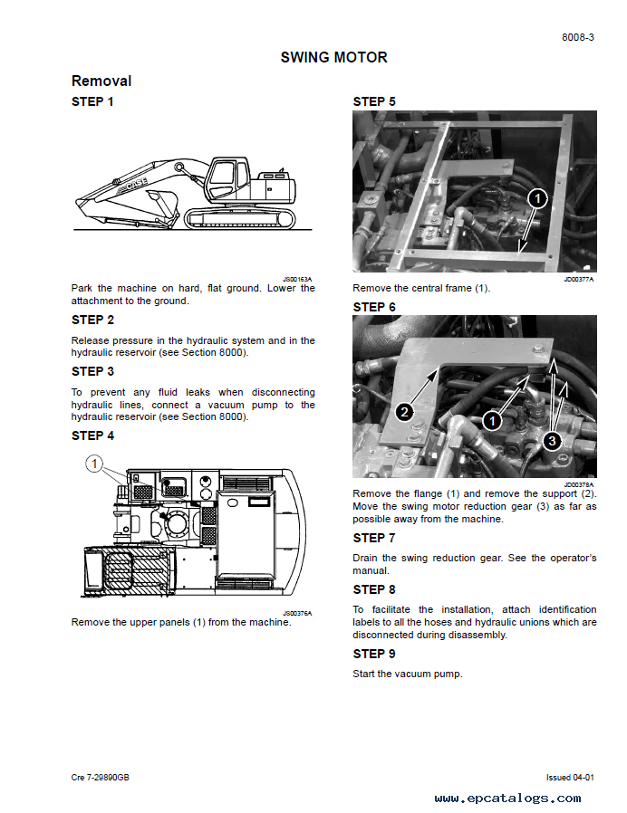 Case CX160 Crawler Excavator Repair Manual PDF