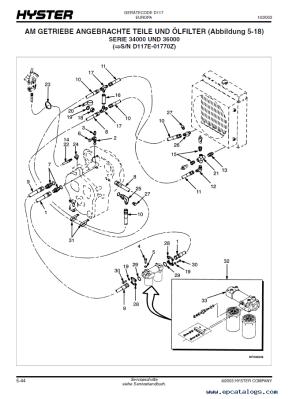 Hyster Challenger (D117) Forklift PDF Parts Manual GR only