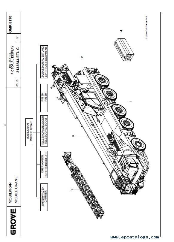 Download Grove Truck Crane GMK 5110-1 Parts List PDF
