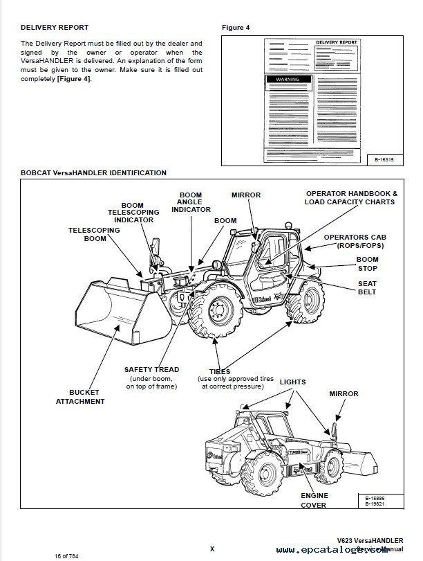 Bobcat V623 Versa HANDLER Service Manual PDF