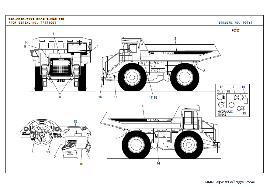 Terex 33100B Mining Truck Parts Book in PDF format