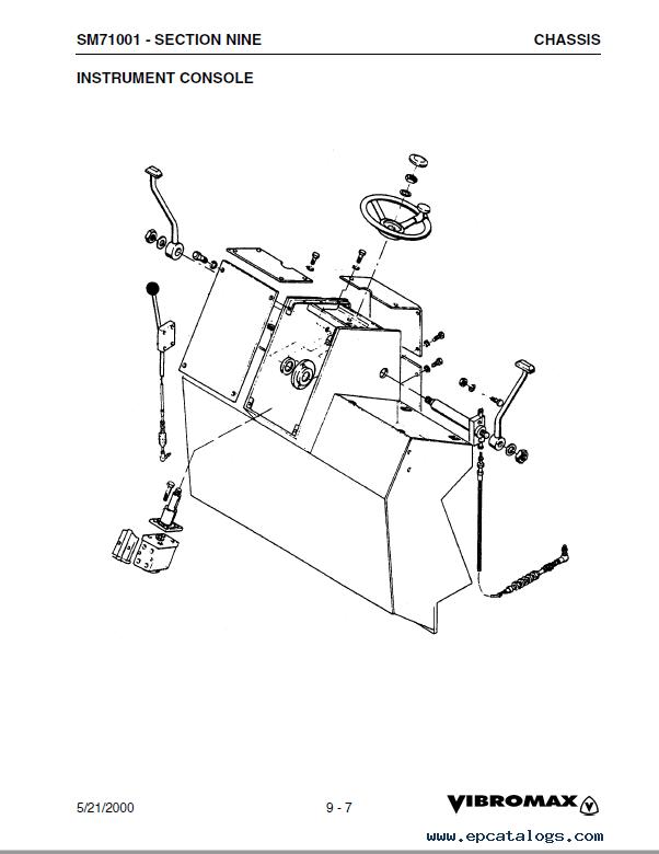 JCB Vibromax 752C Tandem Drum Roller SM71001 PDF