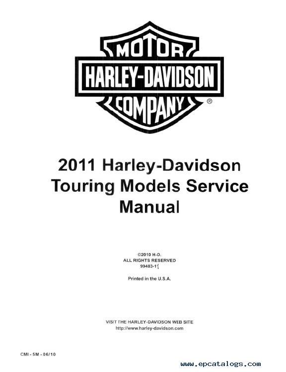 Download Harley Davidson Touring Models 2011 PDF Manuals