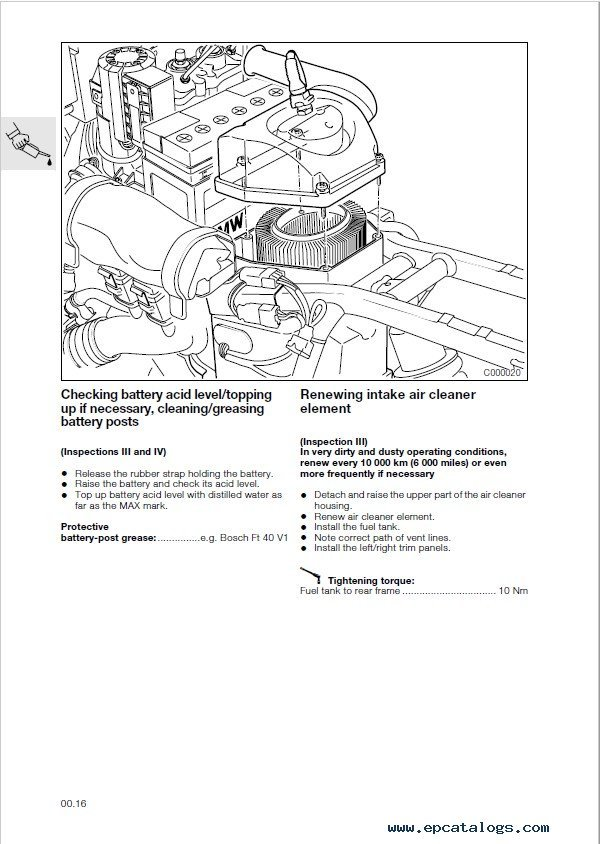BMW R 850 C, R 1200 C Motorcycle Repair Manual PDF