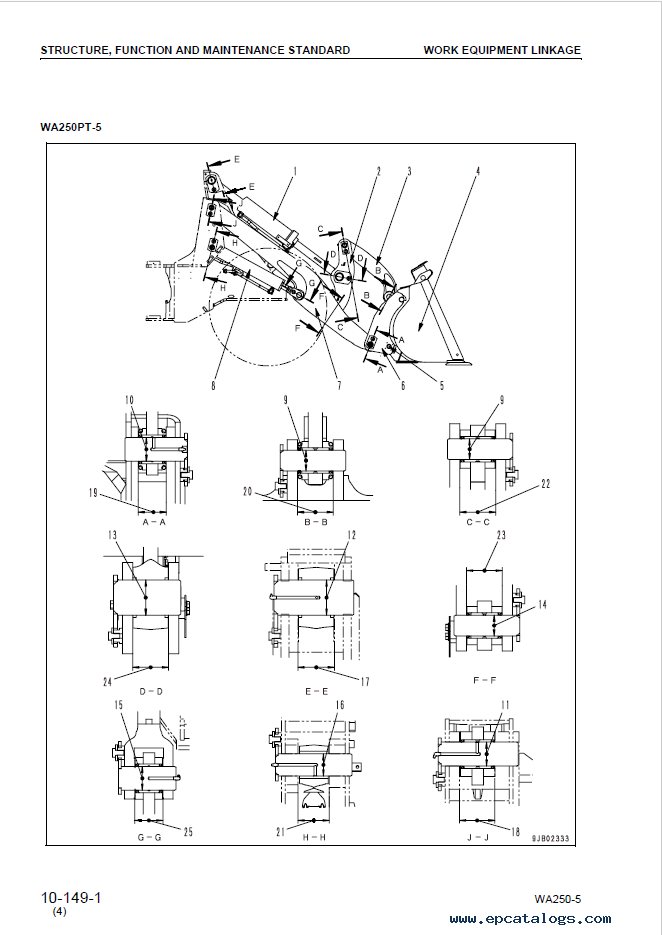 Komatsu WA250-5, WA250PT-5 Wheel Loaders Manual