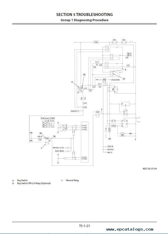 Hitachi Wheel Loader ZW310/330-5B Troubleshooting PDF