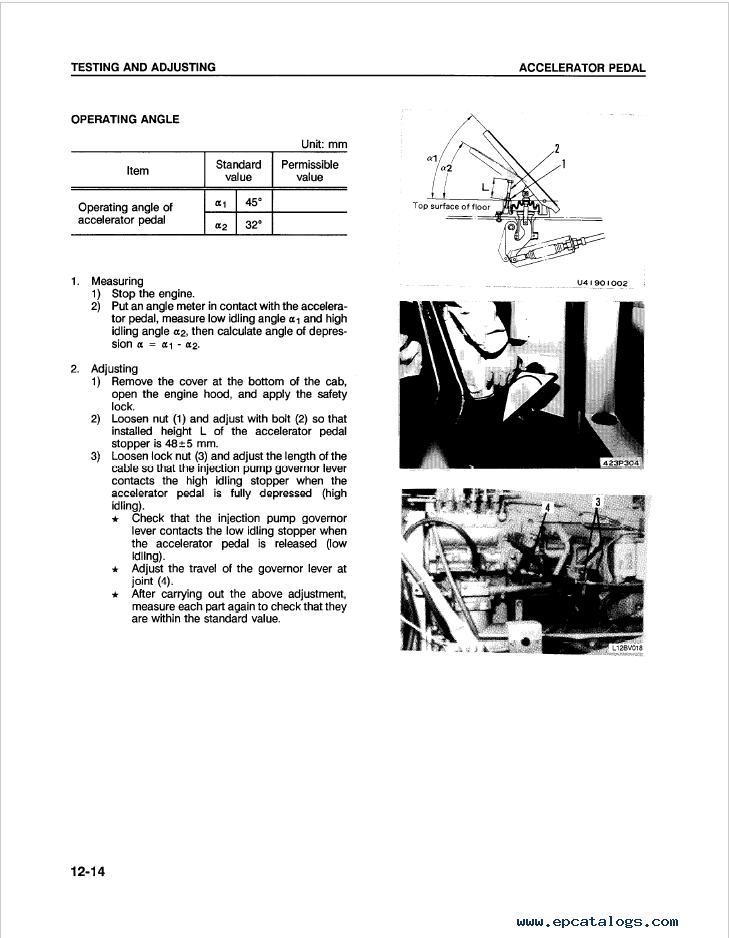Komatsu Wheel Loader WA420-1LC Shop Manual Download