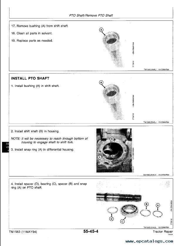 John Deere 2000 2100 2200 2300 2400 Tractors TM1563 PDF