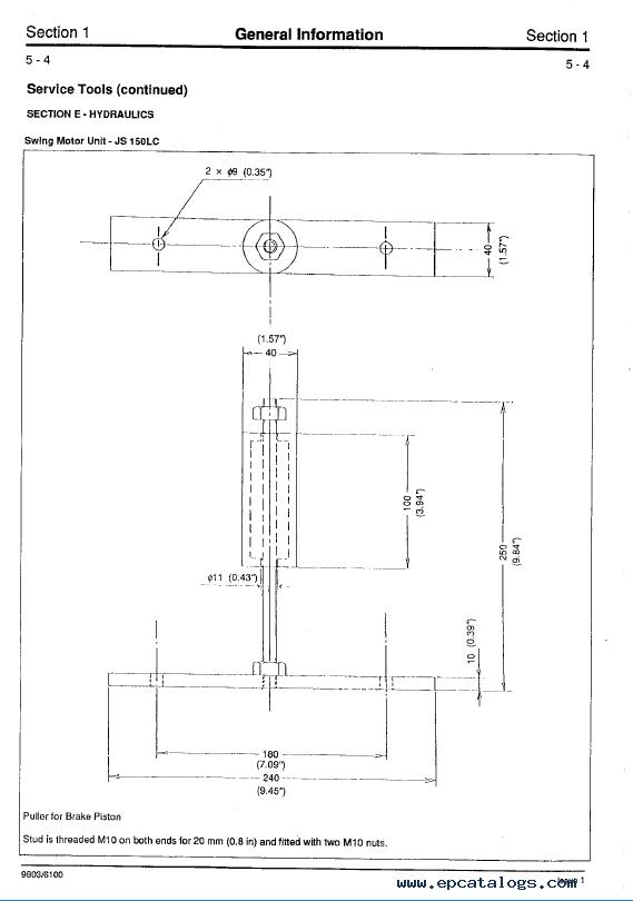 Download JCB JS110/130/150LC Excavator Service Manual PDF