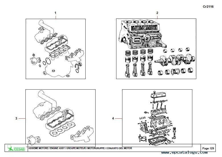 Download Cesab Forklifts 150 180 200 Spare Parts Catalog PDF
