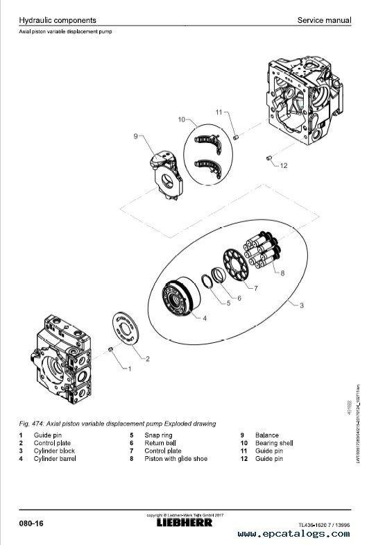 Liebherr TL 436-1620 Telescopic Handler Service Manual PDF
