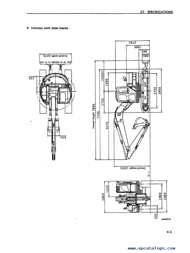 Komatsu Hydraulic Excavator PC128US-1 Set of PDF Manual