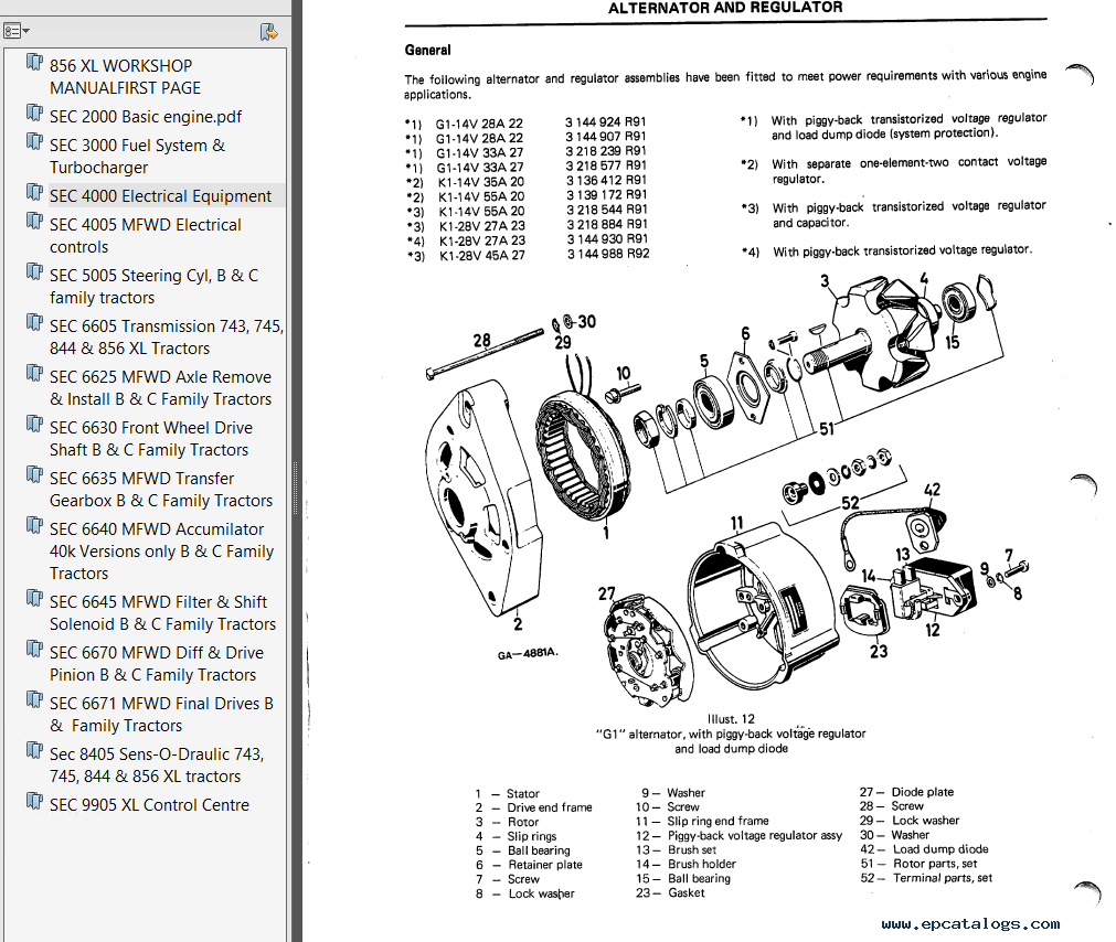 Case IH 856 XL Tractors Workshop Manual PDF