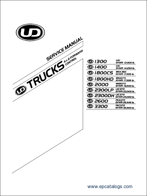 Nissan Ud Trucks Service Manual Workshop Manual Repair