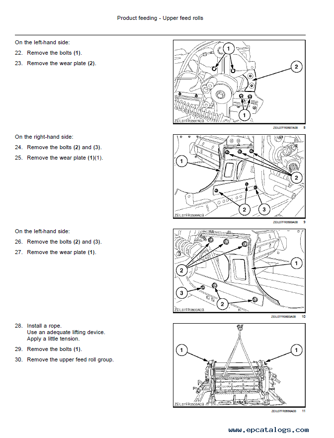 New Holland Forage Harvester FR450/500/600/700/850 PDF Manual