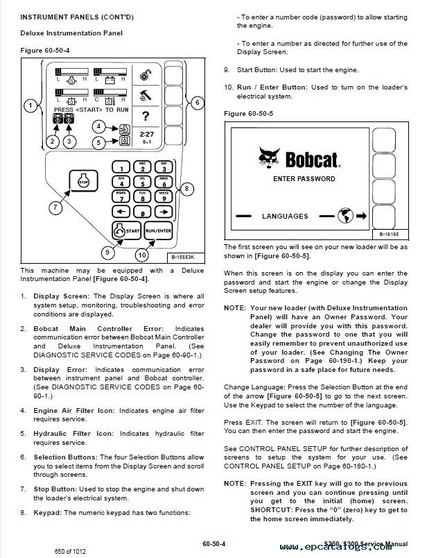 Bobcat S S Skid Steer Loader Service Manual Pdf on 1999 Buick Park Avenue Fuse Box Diagram