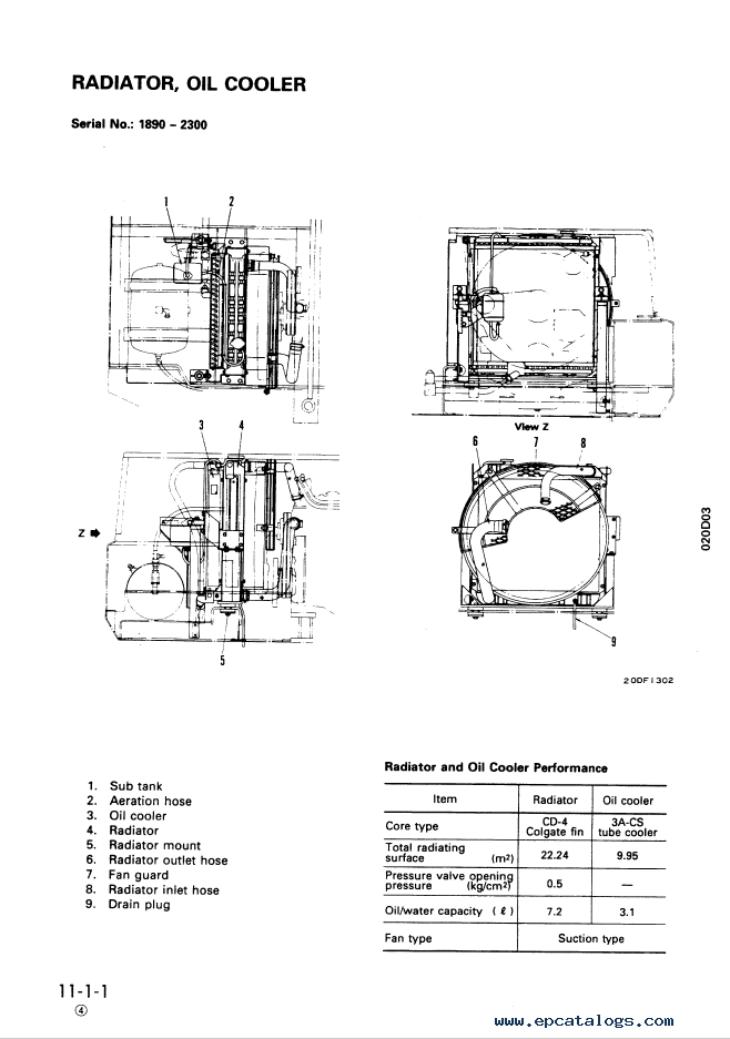 Komatsu Wheeles Excavator PW100-3 Manual Download