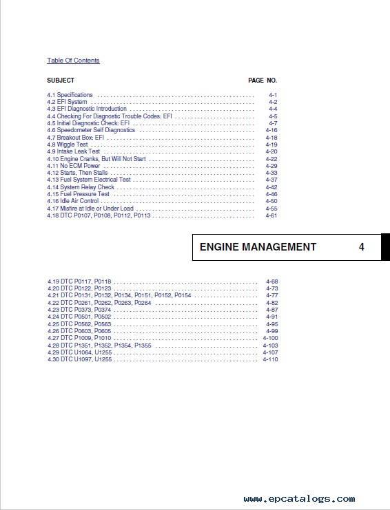 Harley Davidson Sportster 2007 Diagnostics Service Manuals