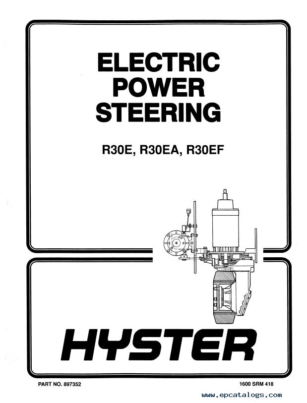Hyster Class 2 E118 R30FFAFF Motor Narrow Aisle Truck PDF