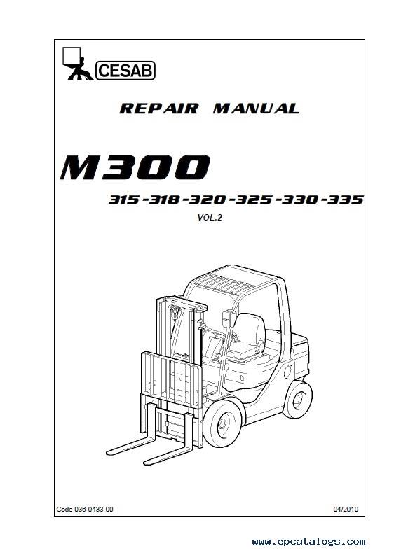 Download Cesab Forklifts IC Range M300 Repair Manual PDF