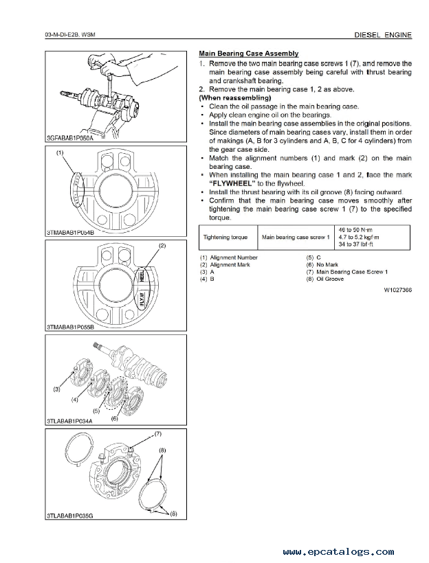 Kubota 03-M-DI-E2B Engine Workshop Manual PDF 9Y011-02866 PDF