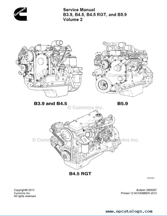 Download Cummins Engine B3.9 B4.5(RGT) B5.9 Service PDF