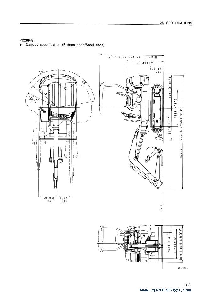 Komatsu PC20R-8 & PC25R-8 & PC27R-8 Excavator Manuals