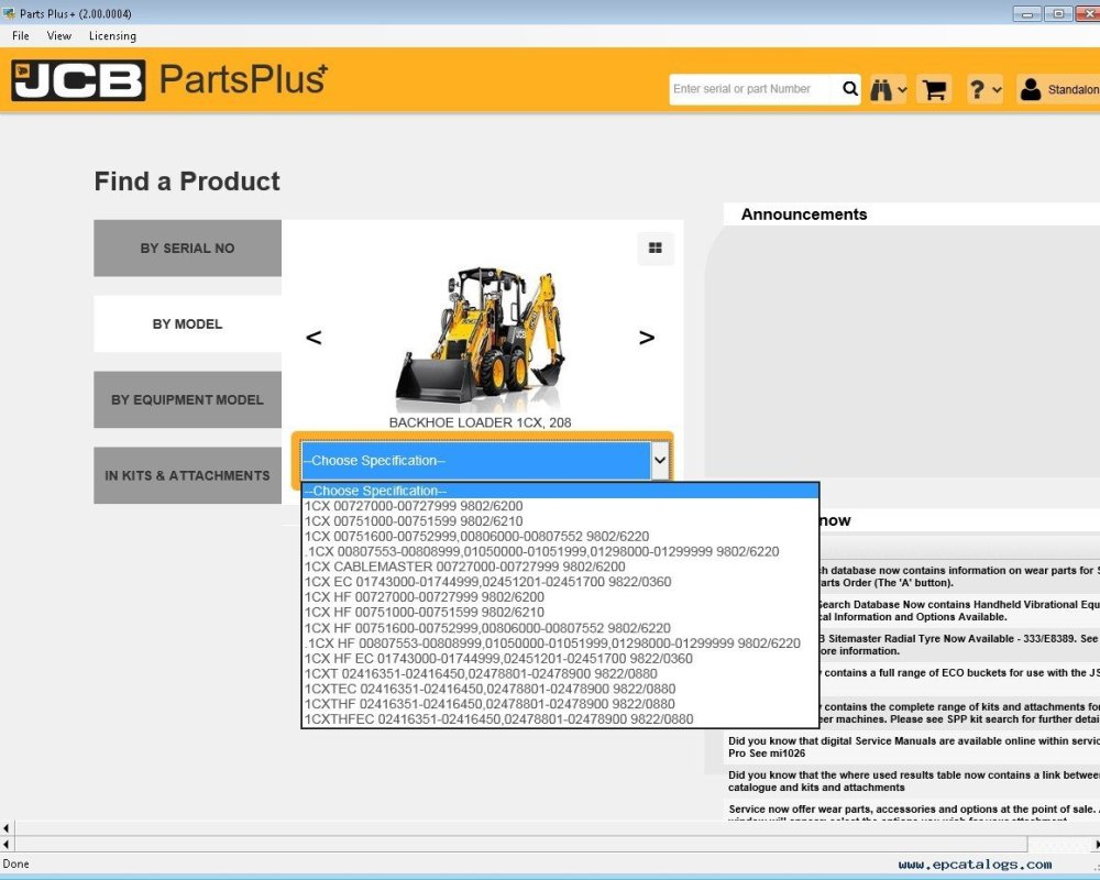 medium resolution of repair manual jcb partsplus electronic parts catalog v2 2 00 0004 with service manuals
