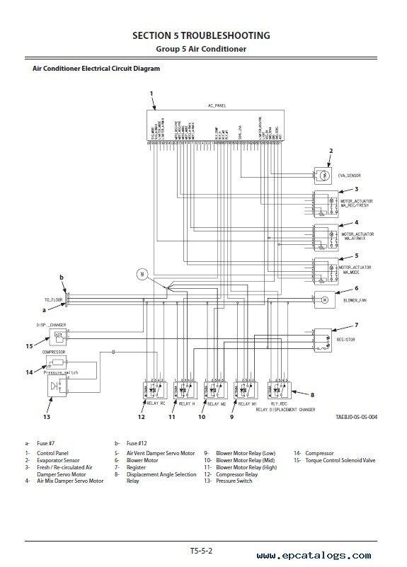 Download Hitachi Excavator ZX35U-5B Technical Manual PDF