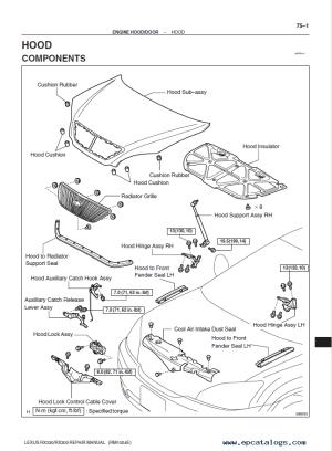 Lexus RX350  RX330  RX300 PDF Workshop Manual PDF Download