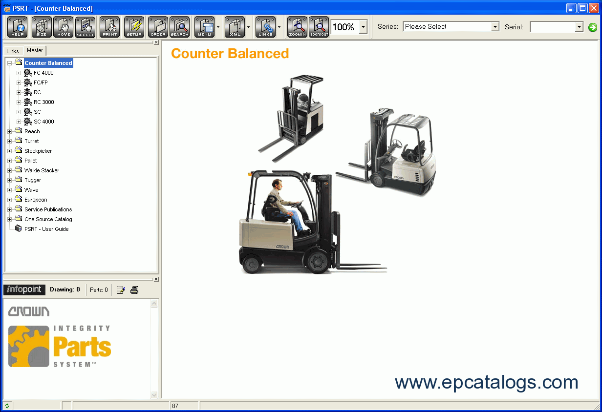 hight resolution of repair manual crown parts service resource tool 1