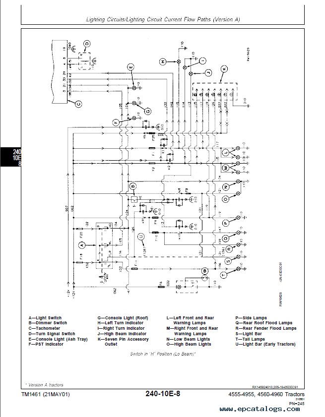Wiring Diagram For A John Deere 316 In Color